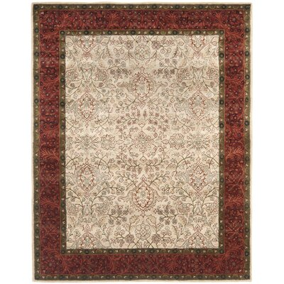 Griswold Hand-Tufted Ivory / Rust Area Rug Rug Size: Rectangle 2 x 3