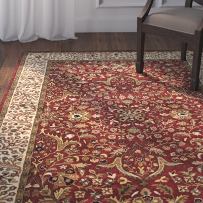 Griswold Red/Ivory Area  Rug Rug Size: 6 x 9