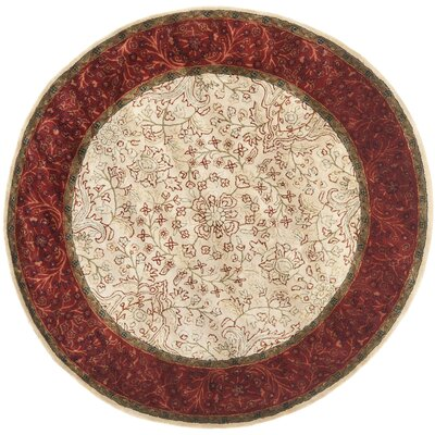 Griswold Ivory/Rust Area Rug Rug Size: Round 6