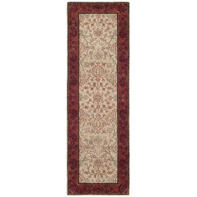Griswold Ivory/Rust Area Rug Rug Size: Runner 26 x 8