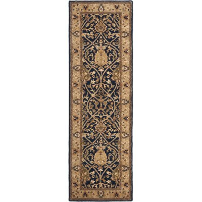 Empress Hand-Knotted/Hand-Tufted Brown Area Rug Rug Size: Rectangle 76 x 96
