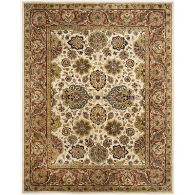 Empress Ivory/Rust Area Rug Rug Size: 4 x 6