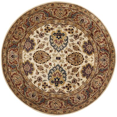 Empress Ivory/Rust Area Rug Rug Size: Rectangle 2 x 3