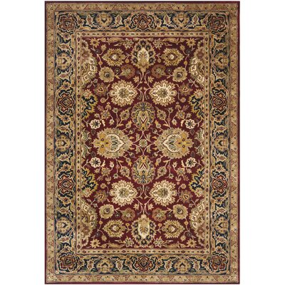 Empress Rust/Black Area Rug Rug Size: Rectangle 6 x 9