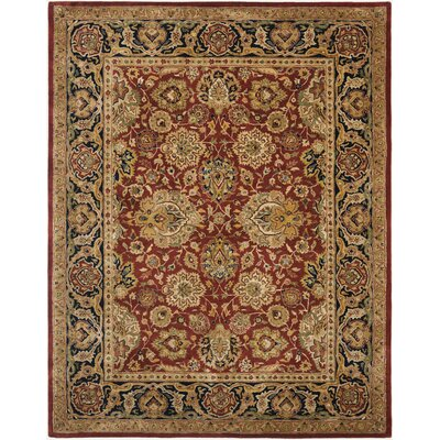 Empress Rust/Black Area Rug Rug Size: Rectangle 76 x 96