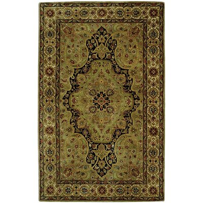 Empress Dark Green Area Rug Rug Size: 76 x 96