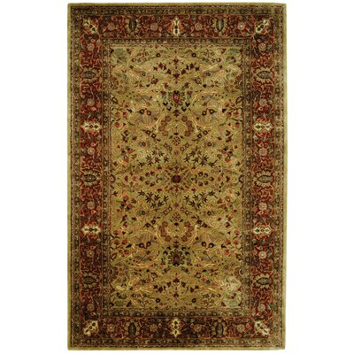 Empress Red/Dark Orange Area Rug Rug Size: Rectangle 5 x 8