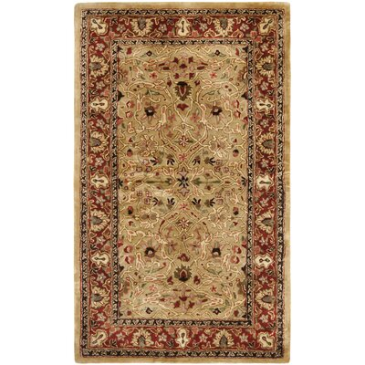 Empress Red/Dark Orange Area Rug Rug Size: 3 x 5