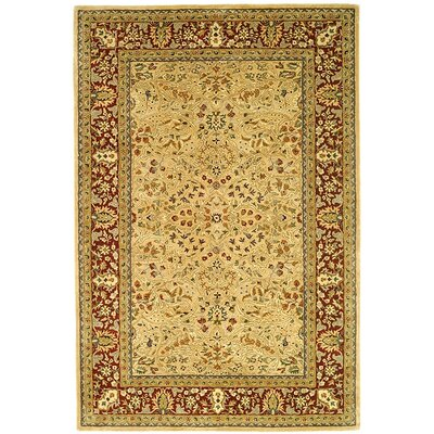 Empress Gold/Red Area Rug Rug Size: 4 x 6