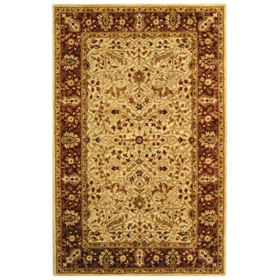 Empress Gold/Red Area Rug Rug Size: Rectangle 5' x 8'