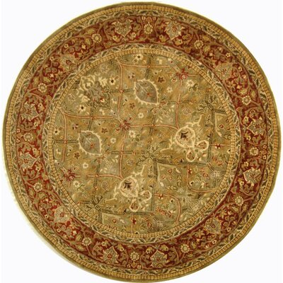 Empress Wool Rust Area Rug Rug Size: Round 8