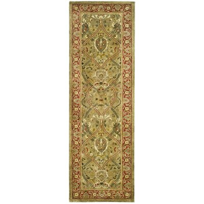 Empress Wool Rust Area Rug Rug Size: Runner 26 x 10