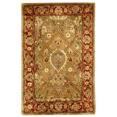 Empress Wool Rust Area Rug Rug Size: Rectangle 12 x 18