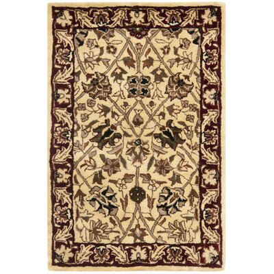 Empress Red/Ivory Area Rug Rug Size: Rectangle 2 x 3