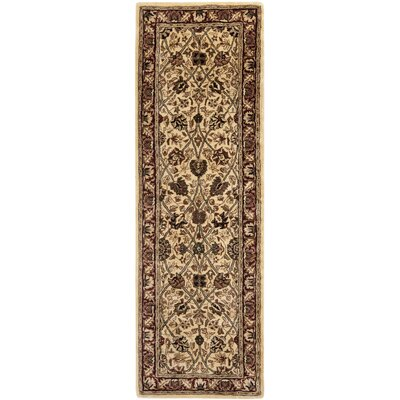 Empress Red/Ivory Area Rug Rug Size: Runner 26 x 10