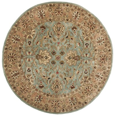 Empress Light Yellow Area Rug Rug Size: Round 6