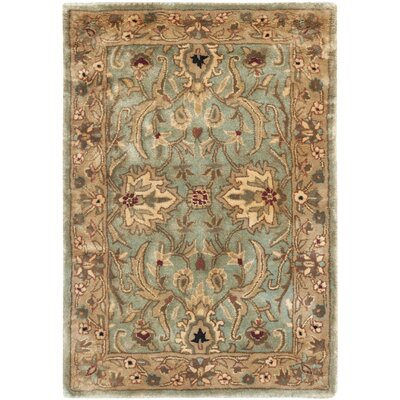 Empress Wool Light Yellow Area Rug Rug Size: Rectangle 2 x 3