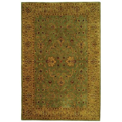Empress Wool Light Yellow Area Rug Rug Size: Rectangle 5 x 8