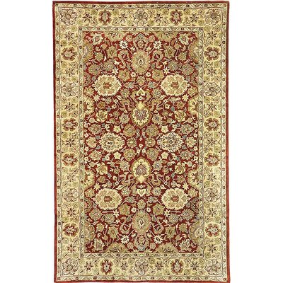 Empress Red/Yellow Area Rug Rug Size: 5 x 8