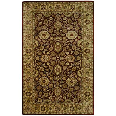 Empress Red/Yellow Area Rug Rug Size: Rectangle 83 x 11