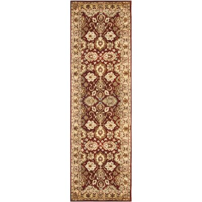 Empress Red/Yellow Area Rug Rug Size: Runner 26 x 10