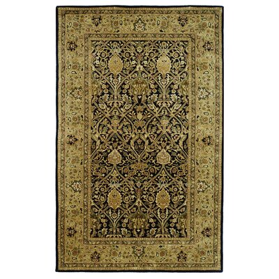 Empress Black/Light Orange Area Rug Rug Size: 5 x 8