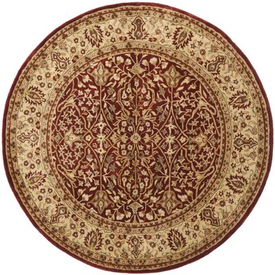 Empress Red/Light Yellow Area Rug Rug Size: Round 6