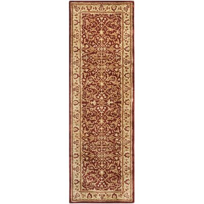 Empress Red/Light Yellow Area Rug Rug Size: Runner 26 x 10