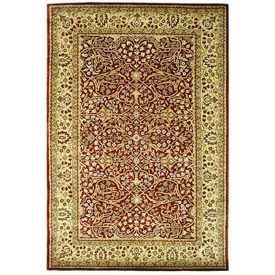 Empress Red/Light Yellow Area Rug Rug Size: Rectangle 4 x 6