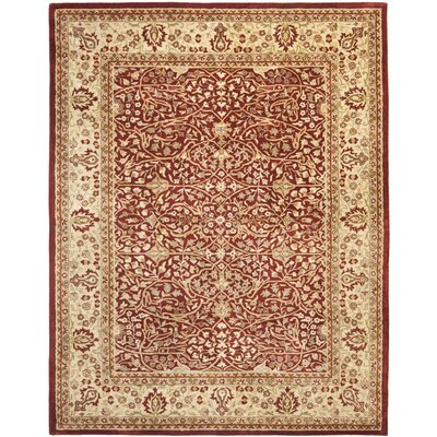 Empress Red/Light Yellow Area Rug Rug Size: 76 x 96