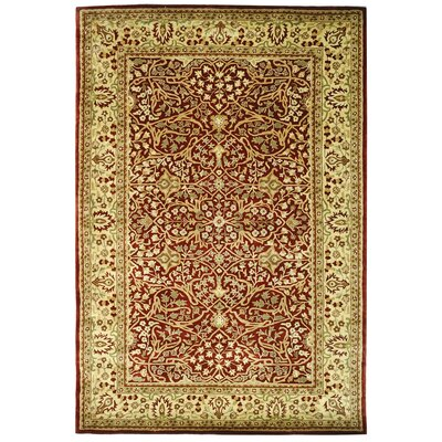 Empress Red/Light Yellow Area Rug Rug Size: Rectangle 6 x 9