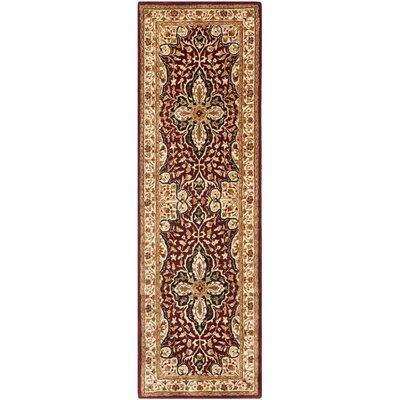 Empress Red/Beige Area Rug Rug Size: Runner 26 x 8