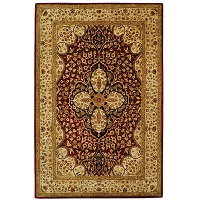 Empress Red/Beige Area Rug Rug Size: Rectangle 6 x 9