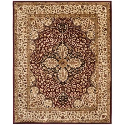 Empress Red/Beige Area Rug Rug Size: Rectangle 76 x 96