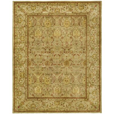 Empress Moss/Beige Area Rug Rug Size: Rectangle 76 x 96