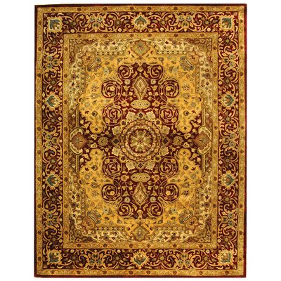 Empress Burgundy/Orange Area Rug Rug Size: 6 x 9