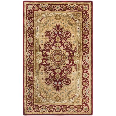 Empress Burgundy/Orange Area Rug Rug Size: Rectangle 3 x 5