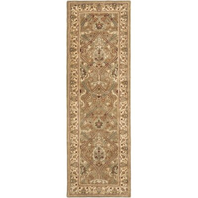 Empress Light Green/Beige Rug Rug Size: Runner 26 x 10