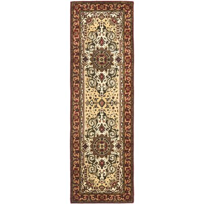 Empress Light Yellow/Rust Area Rug Rug Size: Runner 26 x 8