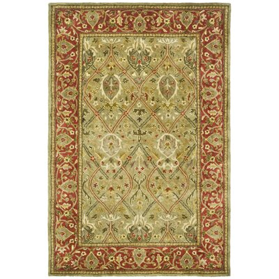 Empress Light Green/Rust Area Rug Rug Size: 11 x 15