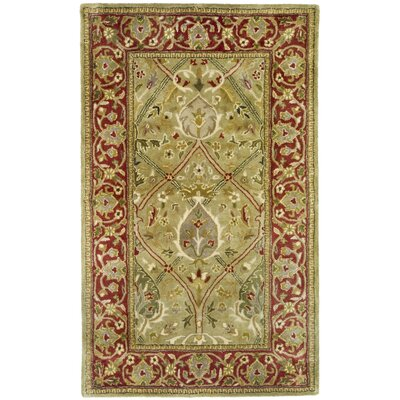 Empress Light Green/Rust Area Rug Rug Size: 96 x 136