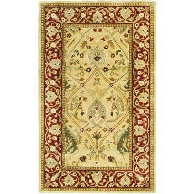 Empress Ivory/Rust Area Rug Rug Size: Rectangle 4 x 6