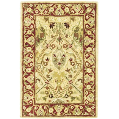 Empress Ivory/Rust Area Rug Rug Size: Rectangle 5' x 8'