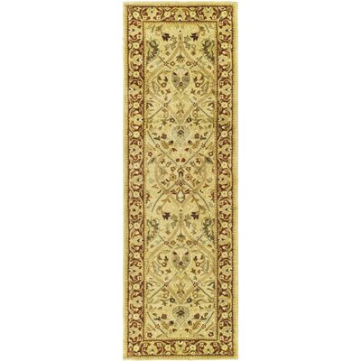 Empress Ivory/Rust Area Rug Rug Size: Runner 26 x 12
