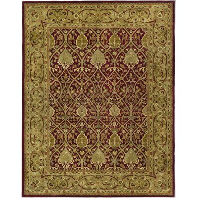 Empress Red/Gold Area Rug Rug Size: Rectangle 96 x 136