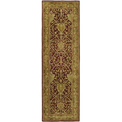 Empress Red/Gold Area Rug Rug Size: Runner 26 x 14
