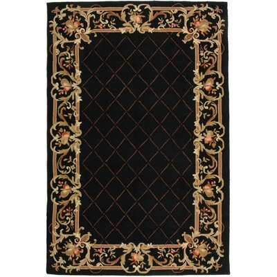 Weaver Black / Miranda Area Rug Rug Size: Rectangle 3 x 6