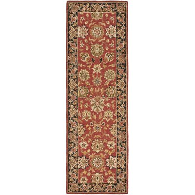 Weaver Rose/Black Rug Rug Size: 2'6