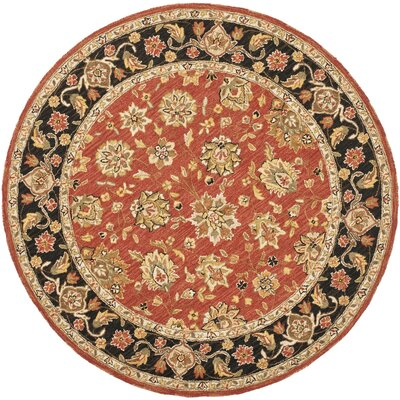 Weaver Red Rug Rug Size: Round 3
