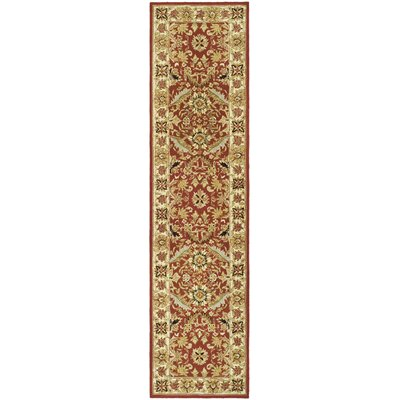 Weaver Red / Ivory Area Rug Rug Size: Runner 26 x 12